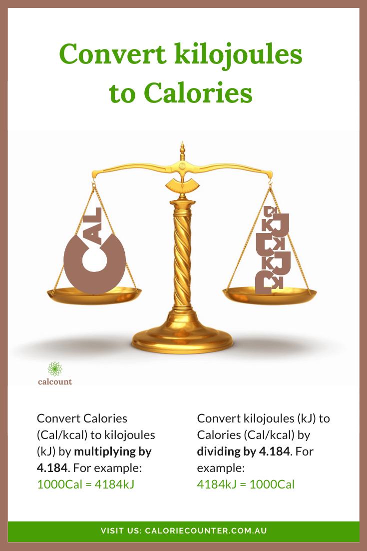 convert kilojoules to calories
