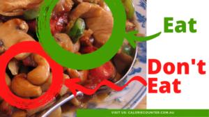 cashew chicken dont eat the cashews