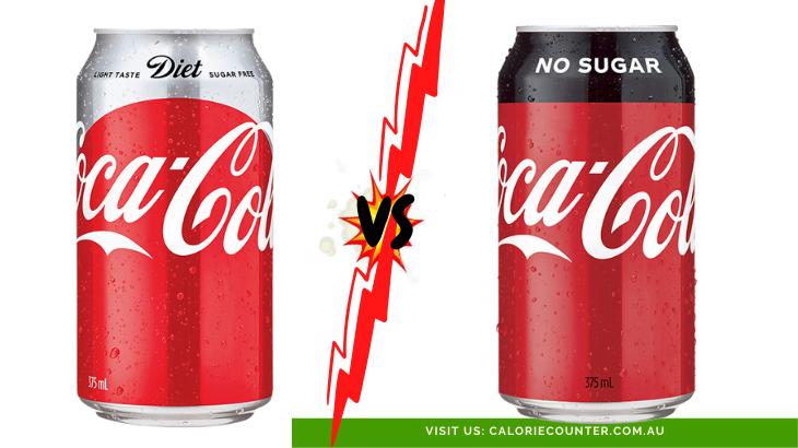 Diet Coke Vs Coke No Sugar Calorie Counter Australia