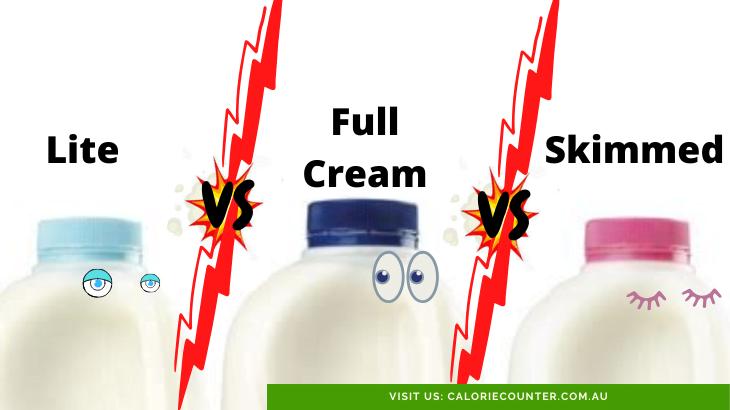 full-cream vs lite vs skimmed milk