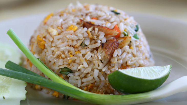 Dilute rice with vegetables