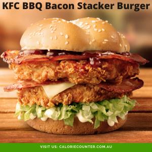 KFC BBQ Bacon Stacker Burger