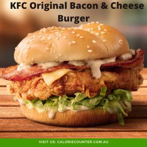 KFC Original Bacon & Cheese Burger
