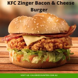 KFC Zinger Bacon & Cheese Burger