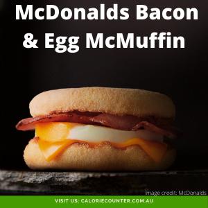 McDonalds Bacon & Egg McMuffin