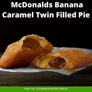 McDonalds Banana Caramel Twin Filled Pie