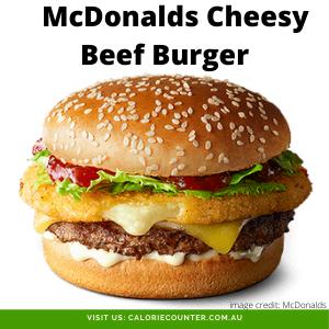 McDonalds Cheesy Beef Burger