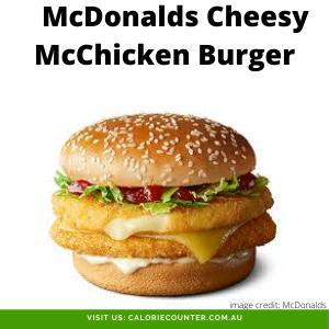 McDonalds Cheesy McChicken Burger