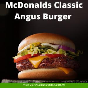 McDonalds Classic Angus Burger