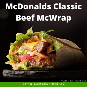 McDonalds Classic Beef McWrap