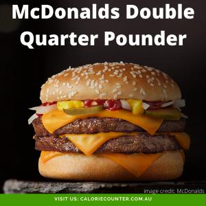 McDonalds Double Quarter Pounder