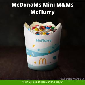 McDonalds Mini M&M McFlurry
