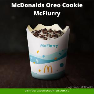 McDonalds Oreo Cookie McFlurry