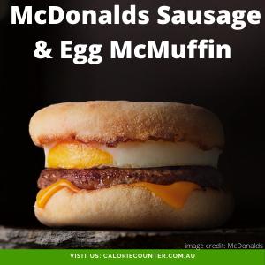 McDonalds Sausage & Egg McMuffin