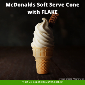 McDonalds Soft Serve Cone with FLAKE