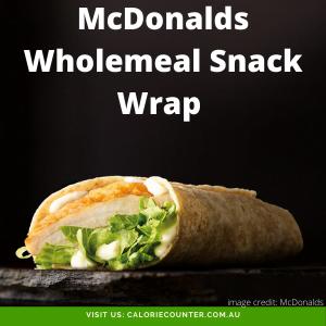 McDonalds Wholemeal Snack Wrap