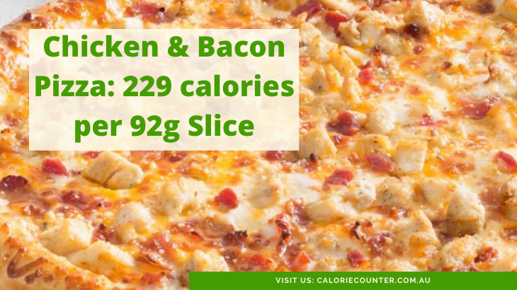 Calories in Chicken and Bacon Pizza