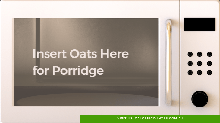 Cook oats in microwave