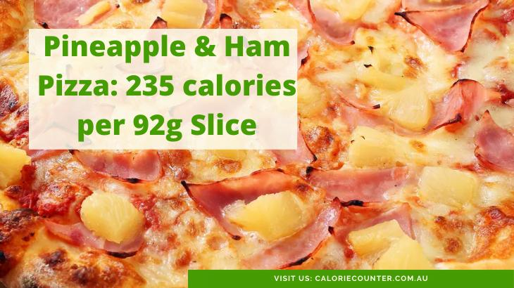 Calories in a slice of Hawaiian Pizza