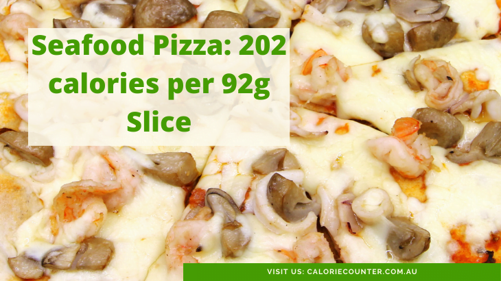 Calories in a Slice of Seafood Pizza