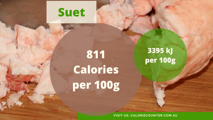 Suet is a substitute for vegetable oil