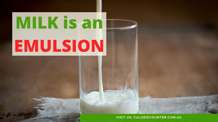 milk is an emulsion