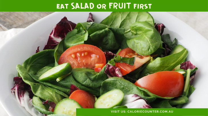 Lose Weight Fast eat Salad first