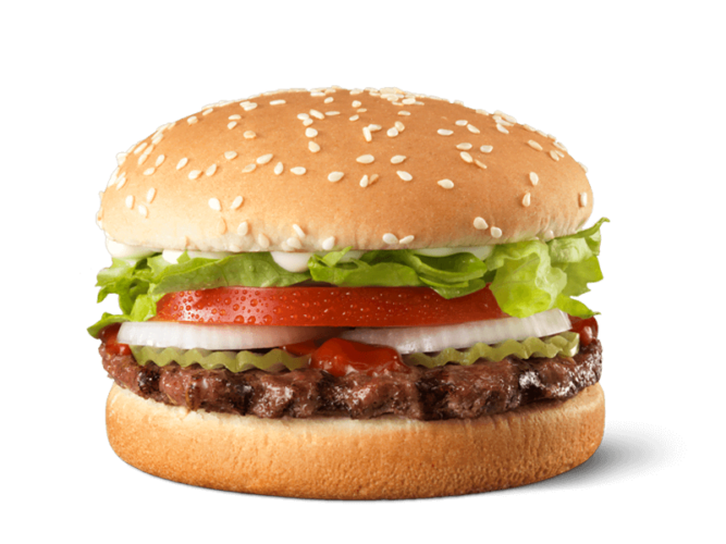 Calories in Hungry Jacks Junior Whopper
