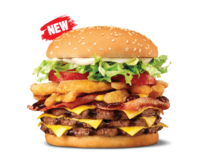 Calories in Hungry Jacks Triple Whiskey River Whopper