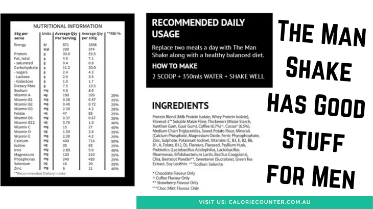 Man Shake Nutrition