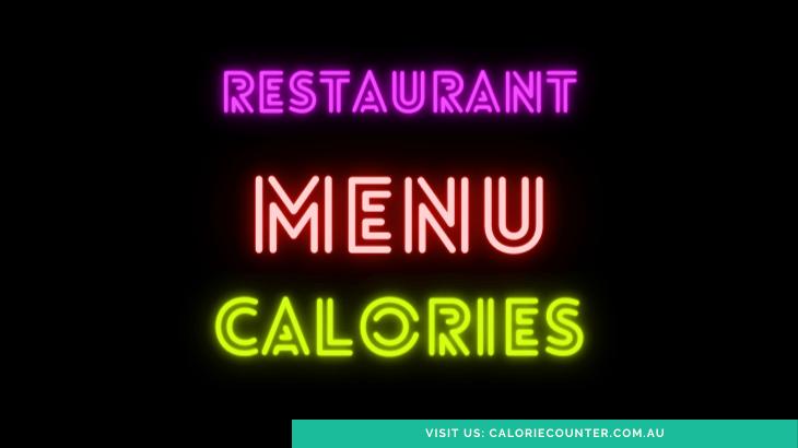 Restaurant Menu Calories