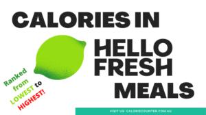 Hello Fresh Calories